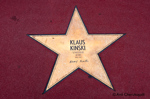 Star of Klaus Kinski, Berlin